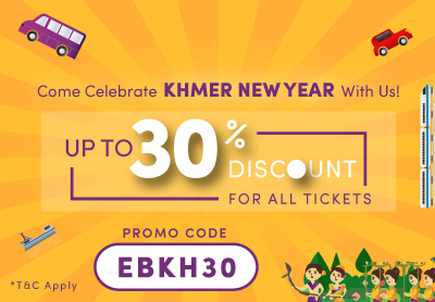 Celebrate Khmer New Year with Up to 30% Discount for All Bus Routes